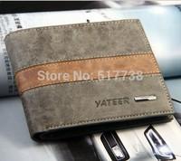 High Quality genuine leather brand designer mens wallet brown black color for men free shipping