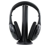 5 in 1 HIFI Wireless headphone Earphone Headset wireless Monitor FM radio for MP4 PC TV audio
