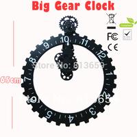 2pcs/lot Wholesale Home Decor Clock Big Gear Wall Clock & Creative Gift Clock Wall Decoration Clock