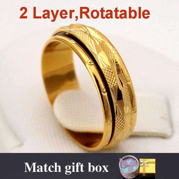aliexpress buy 18k real gold plated rotatable circle