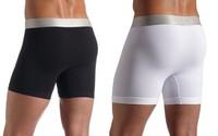Men Shorts Long Boxers (C2091) 3pcs/lot men's boxer shorts Wholesle Underwear Beach Short Trunk Retail Packing bag free shipping
