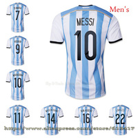 Free shipping Player Version Argentina football jerseys 2014 Brand Logo Best thai quality 10 MESSI jerseys messi soccer jersey