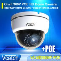 Vcatch 960P POE HD 1.3 MP IP Network MINI Dome Camera IR Waterproof Indoor IP Home Security Surveillance Camera VC-MIC960HF-POE