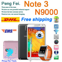 "Real photos 1:1 N9000 Note 3 phone Android 4.3 jelly bean MTK6582 1.3Ghz Quad core phone 5.7"" 1920*1080 2GB Ram 32GB ROM phone"