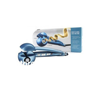 New 2014 PRO Perfect Curl Nano Titanium Magic Hair Curler/Roller Automatic Curls Mira Blue Color Dual Voltage