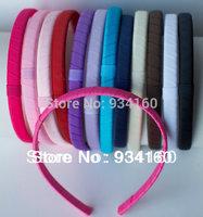 10mm (3/8'') Grosgrain Ribbon Lined Covered Headband Headwear 30pcs/lot
