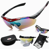 Brand designer sports men women bike bycicle cycling eyewear polarized sunglass sunglasses goggles oculos glasses 5 lenses