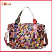 Designer Lady's Shoulder Bags Genuine Leather Bag Women Messenger Bags Patchwork Handbags Tote 2015 New Fashion
