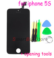 A 10pcs/lot,for iPhone 5S LCD with Touch Screen Digitizer Assembly with Frame for iphone 5GS 5S,+opening tools,white/black
