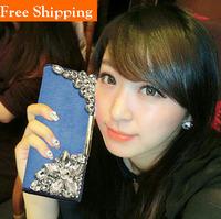 Rhinestone Cowhide Genuine Leather Crystals Wallet Women Messenger Bag Carteira Femininas Mujer Passport Cover Mimco Necessaires