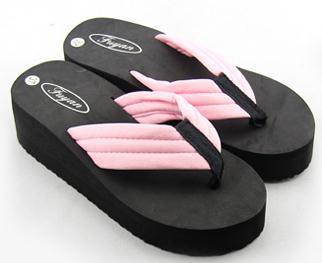 Free Shipping Summer flip flops female sandals platform sandals wedges slippers beach lovers women's shoes platform slippers(China (Mainland))