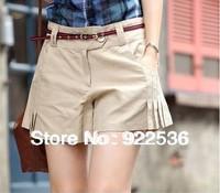 2014 Summer Solid New Shorts Women Casual Mini Hot Pants Semireductive Plicated Shorts Femininos Plus Size 2017