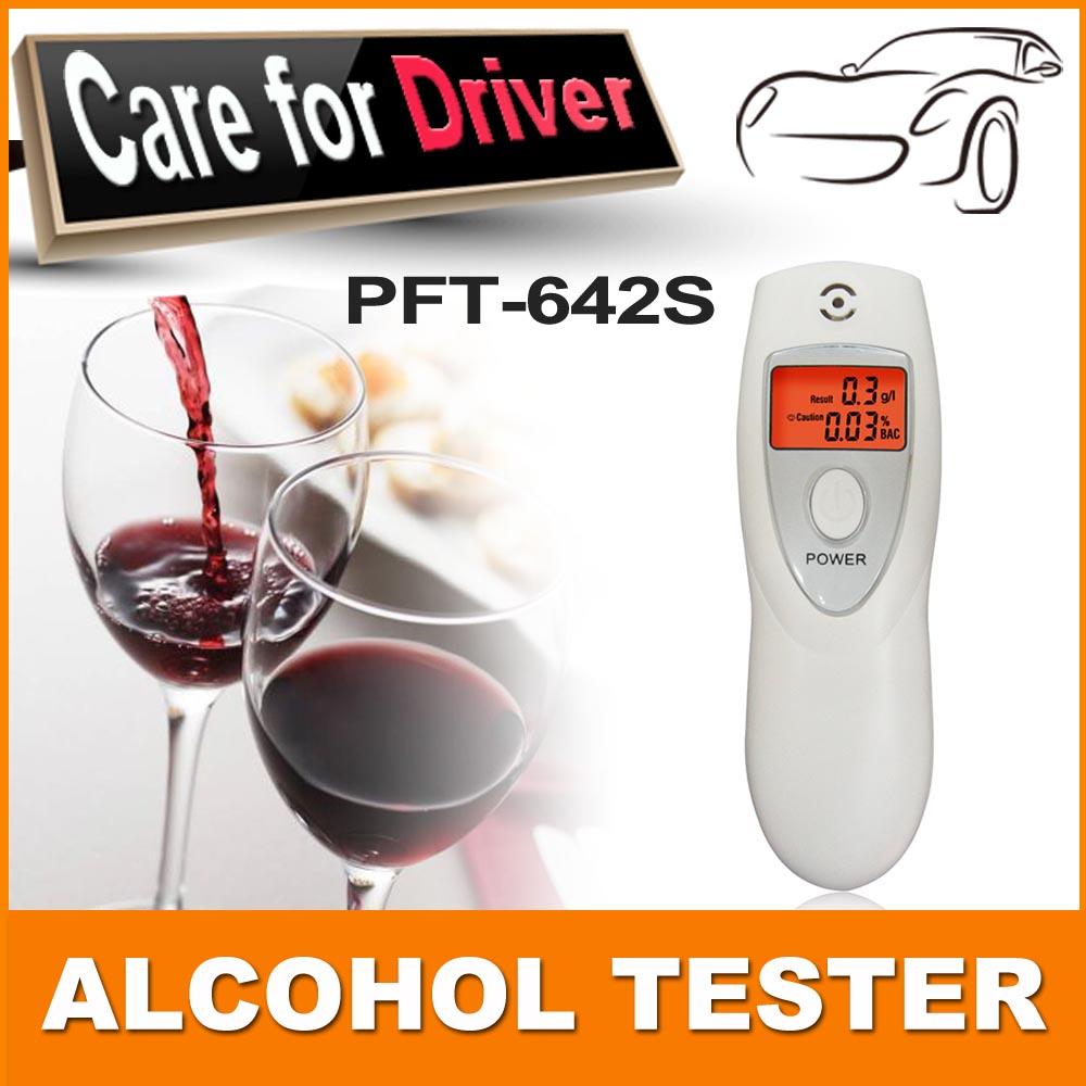 free shipping 5pcs/lot LCD Digital Alcohol Breathalyzer Breath Tester Analyzer alcohol meter(China (Mainland))