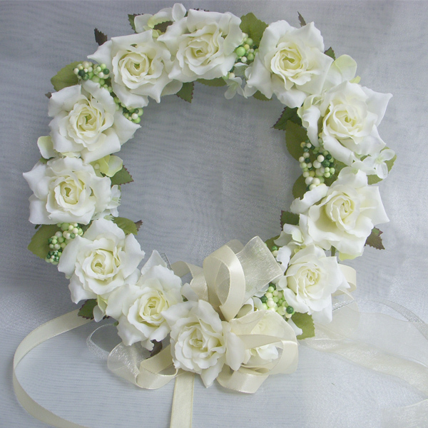 Artificial Decorative Flowers & Wreaths/Garland, Wedding, Party and Christmas Decoration, 6 colors,Hot sale Head Ornaments(China (Mainland))