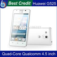 "Free shipping!Original Huawei G525 Qualcomm Quad-Core mobile phone 1G+4G 4.5"" IPS 1GB RAM Dual SIM 3G muiti language/Kate"