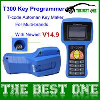Wholesales PriceT code T300 Key Programmer V14.9 T 300 Car Key Maker T-300 English&Spanish Optional 3 Years Warranty DHL Free