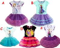 free shipping kid's summer dress girl's tutu  girls' wear dress girl's princess dress girl's lovable dress