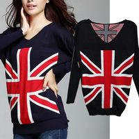 2pieces/lot 2014 New Women red cardigen batwing  longsleeve sweater  Women's Suits Knitted Set Sweater Geometric Pullover NZ159