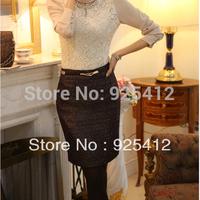 new 2014 woman new winter skirt Korean wild Slim package hip skirt OL female fashion short skirts womens pencil skirt