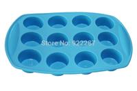 Food grade silicone cake mold cake decorating 12 holes roundness shape silicon cake baking tools free shipping