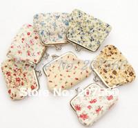Women fashion small broken flower design coin purse, zero wallet, buckles coin bags,change purse, clutch purse