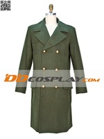 Hot Sale Doctor Who 11th DR. Matthew Smith Long Green Coat Cosplay Costume