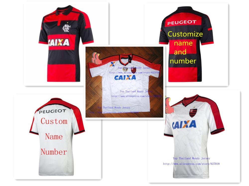 A+++ Brasil Regatas do Flamengo Shirt 2014 White Black 3RD Outdoor Thailand Jersey Camisetas De Futbol Uniforms Sports Shirt(China (Mainland))