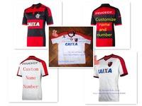A+++ Brasil Regatas do Flamengo Shirt 2014 White Black 3RD Outdoor Thailand Jersey Camisetas De Futbol Uniforms Sports Shirt