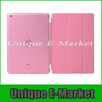 1 Pair/lot PU Leather Magnetic Smart Cover +Crystal Hard Back Case For ipad mini ipad mini retina iPad mini 3