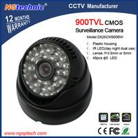 "Free shipping Color 900TVL Indoor Dome CCTV Security Camera 1/4"" CMOS Sensor 48pcs LEDs IR Night Vision"