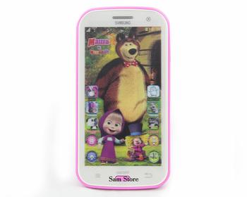 Говоря Маша и Медведь Samsung Learning & Amp; Игрушка телефон Бесплатная доставка образование Русский язык Детские мобильного телефона Электронные детский