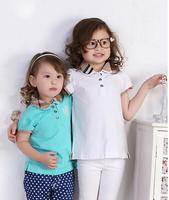 1-6yrs girls t shirt  Children brand T-shirt High Quality 100%cotton girls Tops summer Tees New 2014 baby girls t shirt L064
