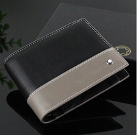 Free Shipping! Latest Style Men's luxurious Genuine Leather Wallet,Fashion famous brand black purse,Gift box packaging