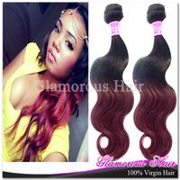 Free Shipping 2pcs lot Princess Hair Human Body Wave Hair Extension Peruvian Ombre Hair Weave