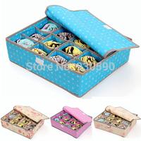 High quality Eco-friendly folding Underwear Bra Socks Ties Rose Storage Box Set  receive case Storage Boxes & Bins