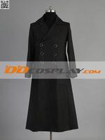 SHERLOCK Sherlock Holmes Long Black/Dark Gray Coat Cosplay Costume