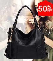 2014 Aliexpress Shopping Festival women's genuine leather handbags vintage cowhide large bags women's cross-body shoulder bag