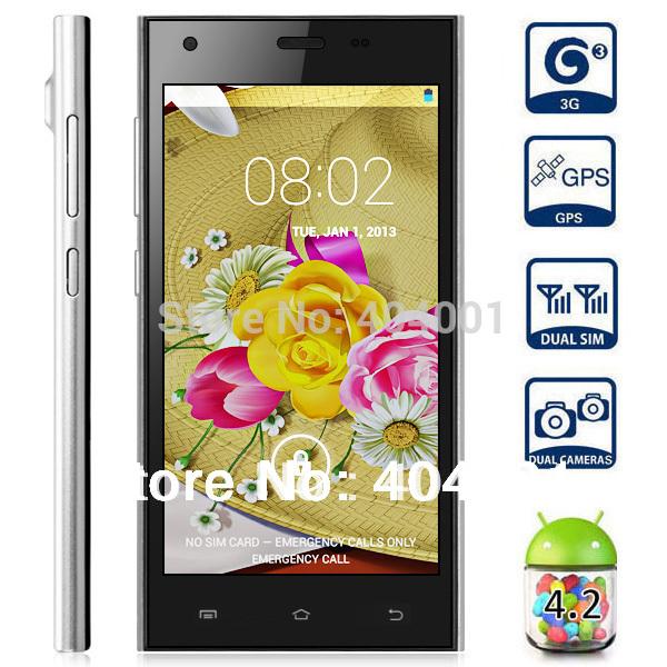 Free Flip case HTM M3 M3W 5.0 854x480 Screen Android 4.2 Phone MTK6572 1.3GHz Dual Core CPU 512MB RAM 4GB ROM 3G Ultra Slim LN(China (Mainland))