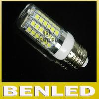 E27 5050smd Crystal chandelier lighting lamps 220V 15W 69 led 5050 SMD E27 LED Corn Bulb Light, Warm white/white,free shipping