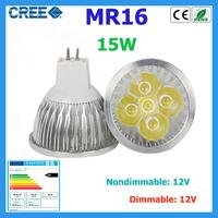 10pcs led bulbs MR16 15w 12w 9w warm white cold white 12V Dimmable led Light led spotlights bulbs lamps