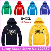 2015 Spring Autumn Winter Men's Muhammad ALI MMA Boxing sweatshirts male hoodie Men Cotton Fleece Hoody Sports Coat DIY