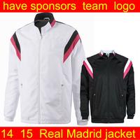 real madrid jacket soccer jacket  2014  Men's  soccer jackets Football Sports jacket Soccer Jerseys coat