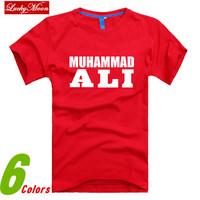 New Fashion Muhammad Ali MMA Boxing Mens Sports T-shirt combed cotton top Fashion men t shirts new DIY Style Man casual Tops