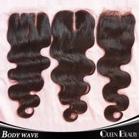 "Lace Closure Bleached Knots Virgin Brazilian Hair Body Wave Closure 8""-18""inch Human Hair Brazilian Lace Closure Free Shipping"