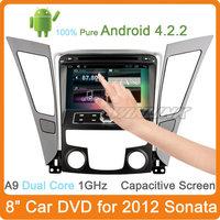 Free Shipping 2014 Newest Capacitive Screen Pure Android 4.2.2 Car Gps For Hyundai Sonata 2012 Navigation Dvd Radio A9 Dual Core