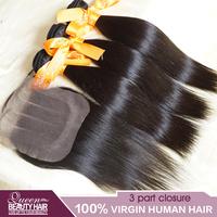 1 PC Lace Closure With Bundles 3PCS Malaysian Virgin Hair Straight,3 part lace closure 4*4 malaysian virgin hair,natural black