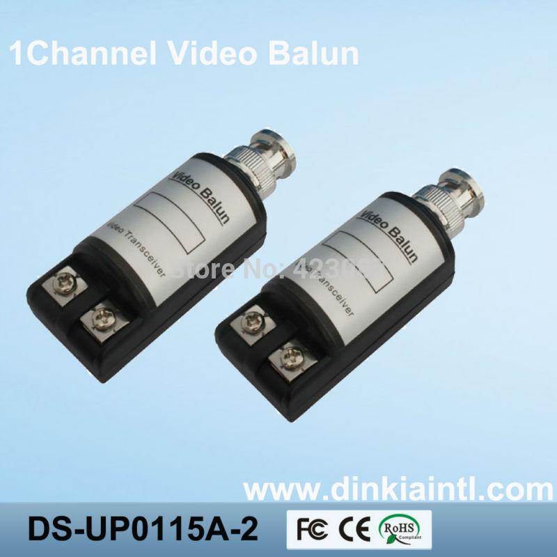 1000pcs CCTV 1CH Passive UTP Video Balun Transceiver BNC Cat5 Pack DS-UP0115A(China (Mainland))