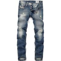 [CPS] Free Shipping Italy brand retail(1piece) fashion high quality Nostalgic retro beggar hole cotton DI brand men's jeans