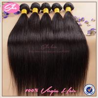 She hair 6A peruvian virgin hair straight 3pcs free shipping,peruvian hair weaves can be dyed,cheap human hair extension