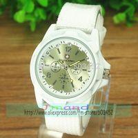 100pcs/lot Fashion Gemius Army Design Men Watch Charming Sport Quartz Dress Watch Wrap Nylon Material Wristwatch 4 Colors